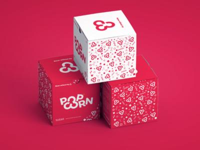 Pop Corn Packagings visual identity packaging mockup logotype logo inspiration logo idea logo design logo concept logo brand logo inspiration illustrator graphic design design branding brand identity brand adobe