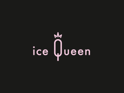 IceQueen | A french and elegant sorbet visual identity packaging mockup logotype logo inspiration logo idea logo design logo concept logo brand logo inspiration illustrator graphic design design branding brand identity brand adobe