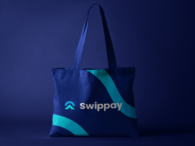 Swippay Tote Bag | A young bank app visual identity packagingdesign packaging package mockup logotype logo inspiration logo design logo brand logo inspiration illustrator graphic design design branding brand identity brand adobe