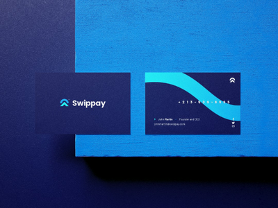 Swippay Business Card | A young bank app visual identity packagingdesign packaging package mockup logotype logo inspiration logo design logo brand logo inspiration illustrator graphic design design branding brand identity brand adobe