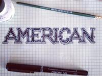 American Blues - type draft