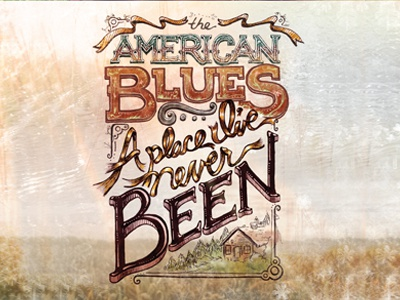 American Blues - final typography cd cover american blues music