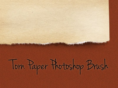 Torn Paper Brush freebies photoshop brush torn paper