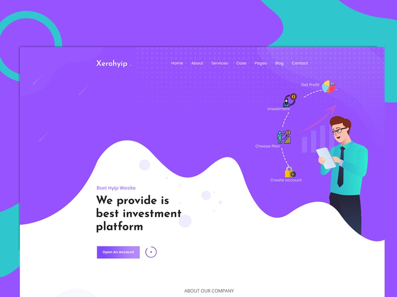 Xerohyip - Financial Investment Website HTML Template
