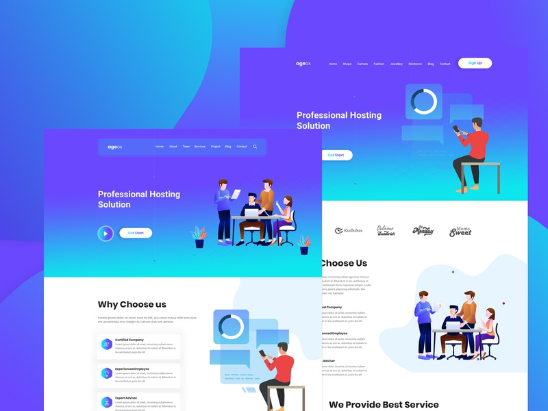 Ageox - Creative Agency PSD Template
