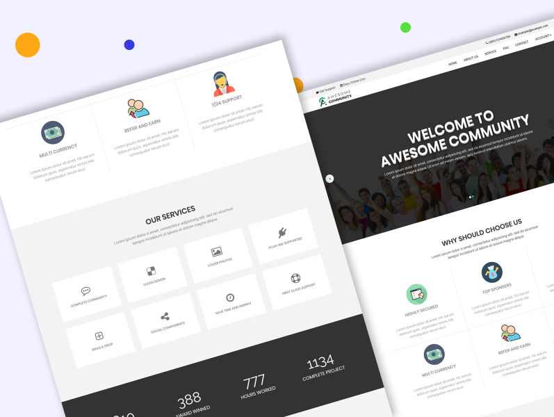Awesome Community Financial Business Html Template Overview By The Soft King On Dribbble