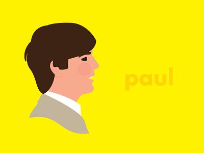 Paul 1966 paul mccartney view side profile face beatles