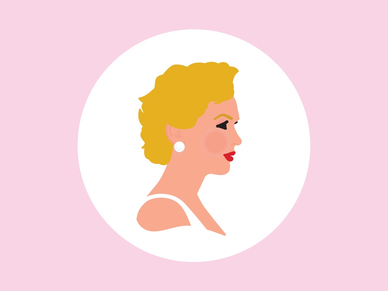 Marilyn pink celebrity star hollywood portrait profile side profile view marilyn