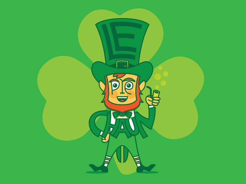 Leprechaun beard hat st patricks day illustration digital illustration custom type pipe irish leprechaun green clover shamrock