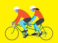 Tandem Cyclists