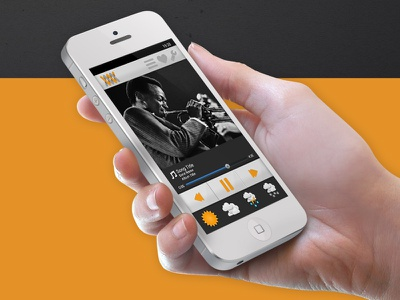 Whether the Weather - UI/UX ui ux app music weather mobile iphone playlist