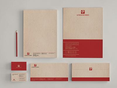 Livros do Meio - Stationery business cards stationery books envelopes paper publisher cards bold asia