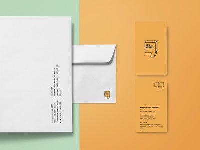 Ipsis Verbis Stationery logo design envelopes business cards bold communication agency asia stationery branding