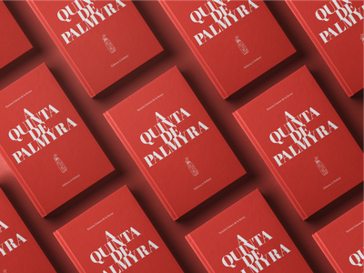 A Quinta de Palmyra - Book editorial illustration editorial design editorial art editorial red book covers book art book cover book
