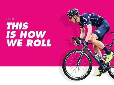 SEG Racing pink bold sports team racing bycicle web development web design