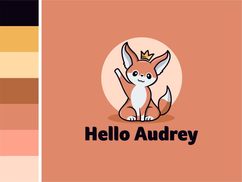 Fennec Fox Logo Character crown fennec fox illustration animal simple creative vector logo flat design branding