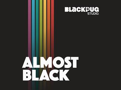 Black Pug Studio | Almost Black Podcast Cover podcast logo podcast art branding design covert cover podcast design branding