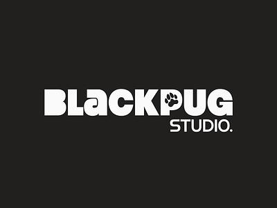 Black Pug Studio - Logo Design (Alt.) branding design creative agency logo design logo branding