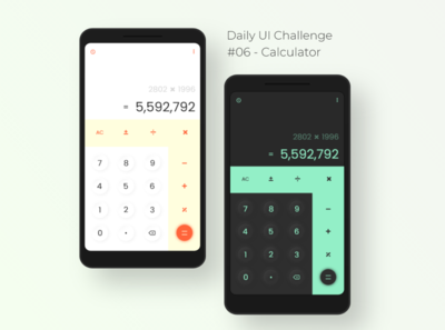 Daily UI Challenge - (06) Calculator app