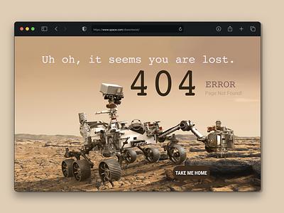 404 error on Mars neutrals nasa robot perseverance mars rover mars space ui webpage 404 404 error page
