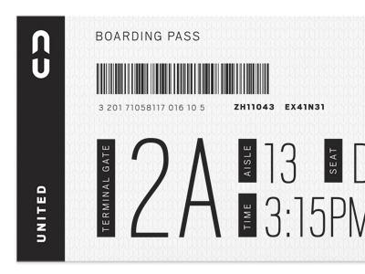 United Boarding Pass