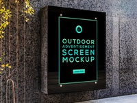 Free Outdoor Advertising Screen Mock-Up 5 freebie free street outdoor panel screen advertisement poster mock-up mockup