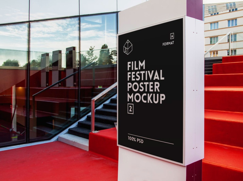 Free Film Festival Poster Mock-Up 2 freebie