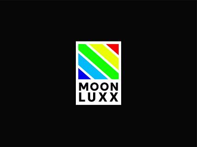 Moon Luxx Flat Logo creative clean square raindbow colorful color simple modern vector icon identity minimalist logo flat design branding