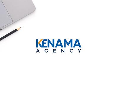 Kenama Agency Logo minimalist flat agency logo agency simple modern identity design branding
