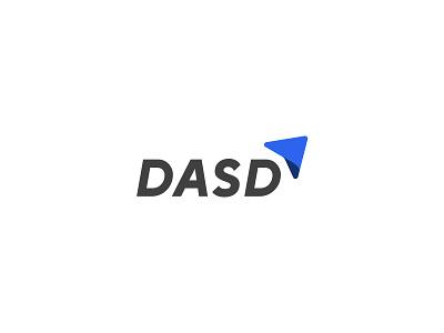 DASD Logo dasd blue arrow corporate start up app modern logo flat design simple branding minimalist
