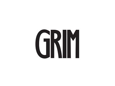 Grim Logo typography wordmark band logo design modern flat simple branding minimalist grim