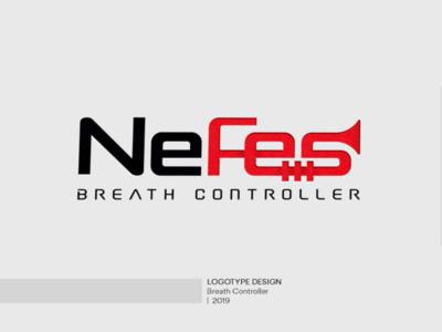 Nefes Breath Controller logo graphic logotype branding