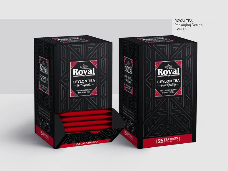 Royal Tea Packaging Design photoshop illustrator packagedesign luxury tea design brand design graphic design packaging