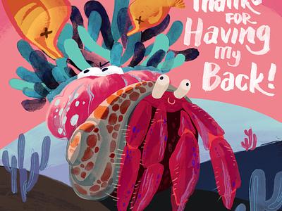 Crab Zine ink illustration zine crab