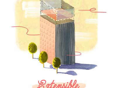 Extensible extensible art ink illustration