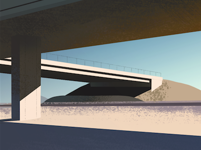 Underpass highway underpass illustration art