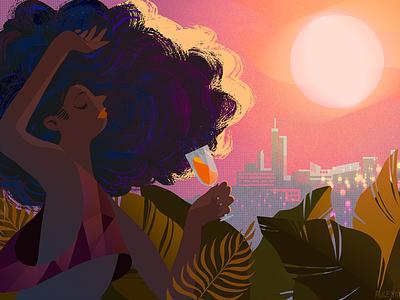 Chi Chi BOOM party color block illustration