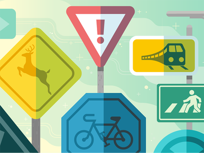 Rush Hour Warrior uber design traffic road signs rush hour