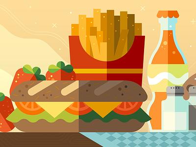 Lunch Breaker uber design sandwich food lunch breaker