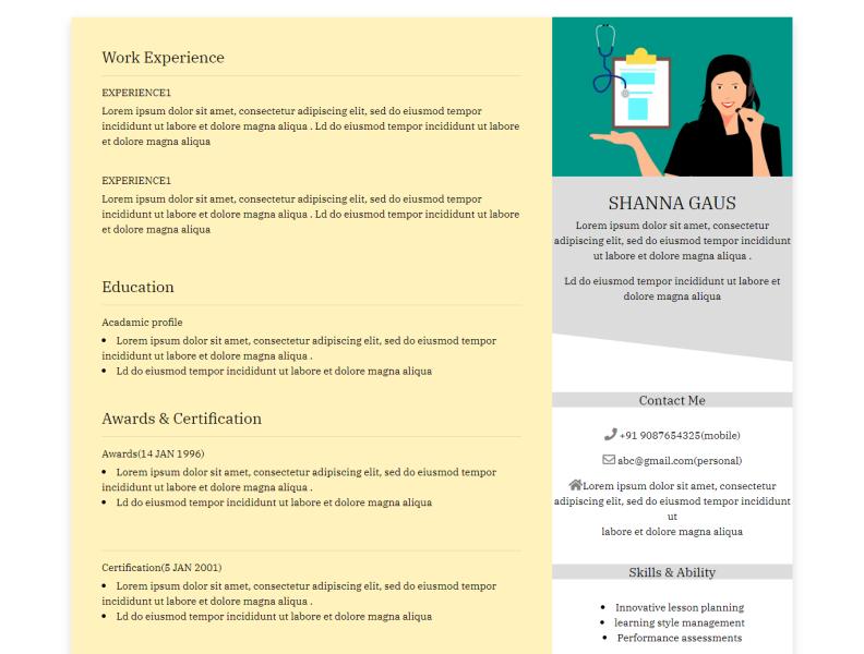 Cv Resume Designing By Ruksar Shaikh On Dribbble