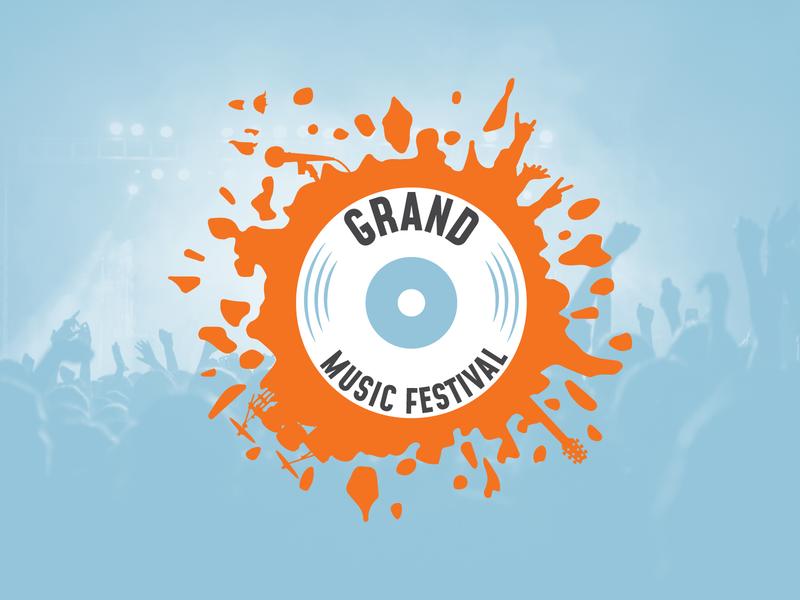 Grand Music Festival Logo branding design logo