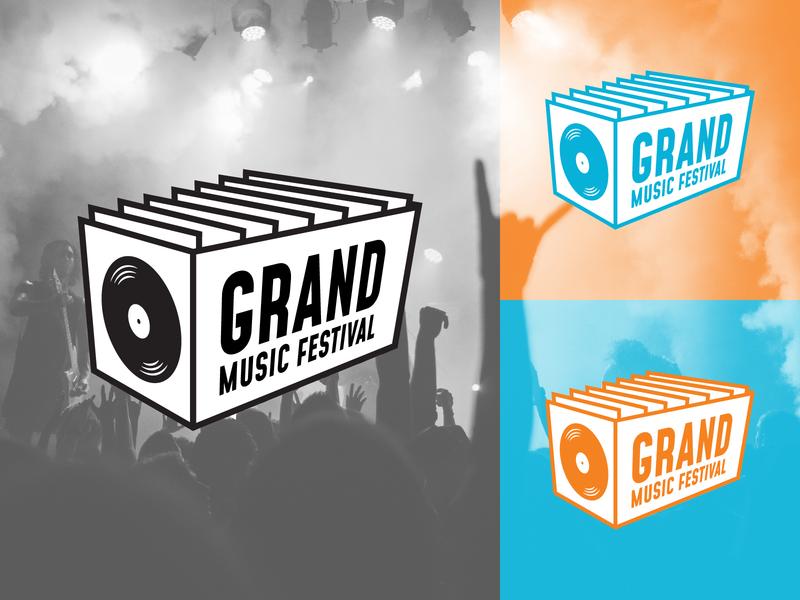 Grand Music Festival Alternate branding design logo
