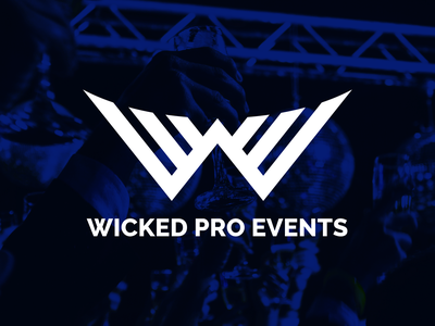 Wicked Pro Events Logo branding design logo