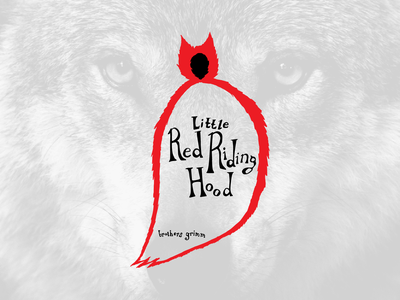 Little Red Riding Hood Cover book cover lettering illustration