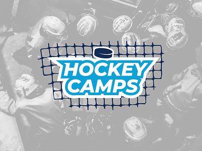 Hockey Camps Logo vector design logo