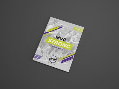 MVP Strong: 2018 In Review magazine design