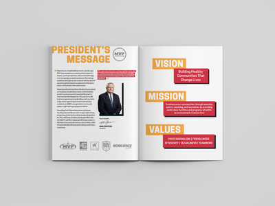 MVP Strong: 2019 In Review - Intro Spread layout design magazine design editorial design
