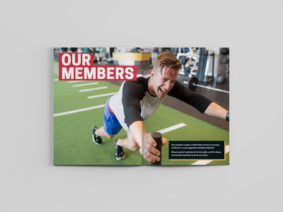 MVP Strong: 2019 In Review - Members Spread layout design magazine design editorial design