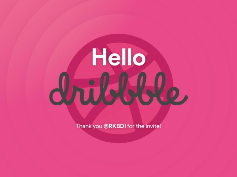 Hello Dribbble! figma hello dribbble