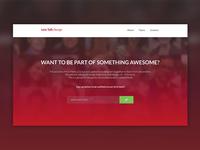 Let's Talk Design Landing Page